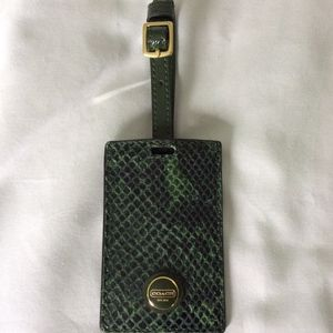 Coach Luggage Tag Green Exotic NEW!